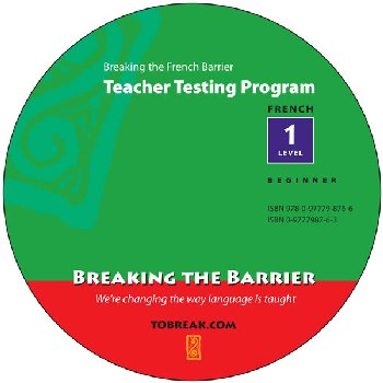 Breaking the French Barrier - Level 1 (Beginning) Teacher Tests (disc)