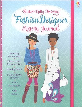 Sticker Dolly Dressing Fashion Designer Activity Journal