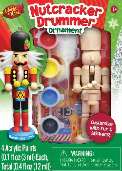 Mini Nutcracker Drummer Wood Ornament