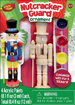 Mini Nutcracker Guard Wood Ornament