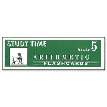 Study Time Arithmetic - Flashcards, Grade 5