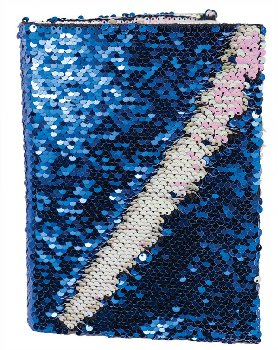 Blue & Pink Sequin Journal