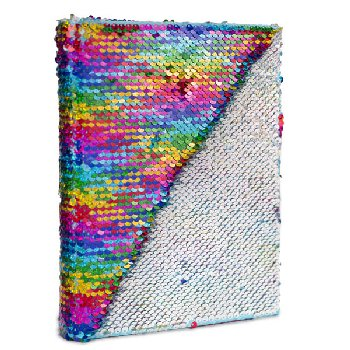Rainbow & Silver Sequin Journal