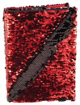 Red & Black Sequin Journal