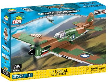 Curtiss P-40E Warhawk 265 Pieces (Small Army WWII Planes)