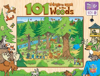 101 Things to Spot in the Woods (100 Piece Puzzle)