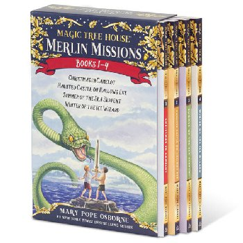 Magic Tree House Merlin Missions #1-4 Boxed Set