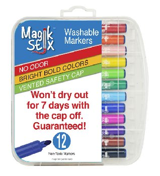 Magic Stix Washable Markers - Set of 12