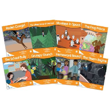 Fantail Readers: Fiction - Orange (set/8) Reading Level 15-16, Guided Reading Level H-J