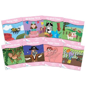 Fantail Readers: Fiction - Pink (set of 8) Reading Level 1-2, Guided Reading Level A-B