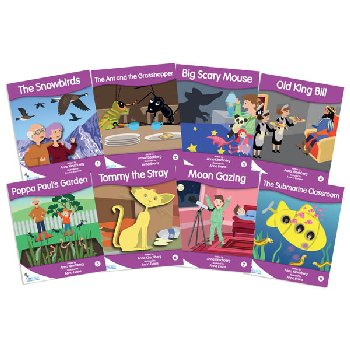 Fantail Readers: Fiction - Purple (set of 8) Reading Level 19-20, Guided Reading Level K-M