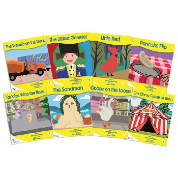 Fantail Readers: Fiction - Yellow (set of 8) Reading Level 6-8, Guided Reading Level C-F