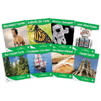 Fantail Readers: Non-Fiction - Green (set of 8)  Reading Level 12-14, Guided Reading Level F-I