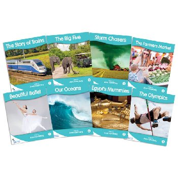 Fantail Readers: Non-Fiction - Turquoise (set of 8) Reading Level 17-18, Guided Reading Level I-K