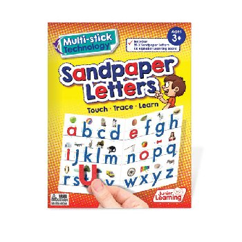 Multi-Stick Alphabet Sandpaper Letters & Board