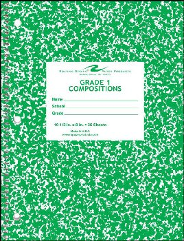 Grade 1 Composition Ntbk - Green Marble Cover