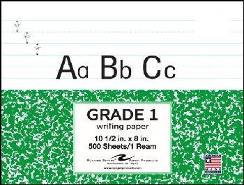 Grade One Ruled Filler Paper Ream Pack