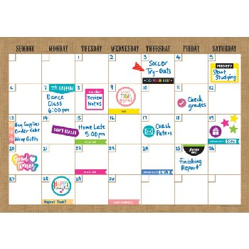 Clingy Thingies Calendar Set - Burlap