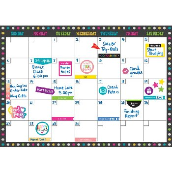 Clingy Thingies Calendar Sets - Chalkboard Brights