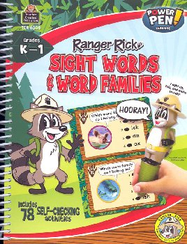 Ranger Rick Power Pen Learning Book: Sight Words & Word Families