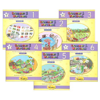 Jolly Phonics Grammar 1 Workbooks - Set of Books 1-6 (Print Letters)