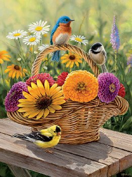 Bluebird and Bouquet Tray Puzzle (35 piece)