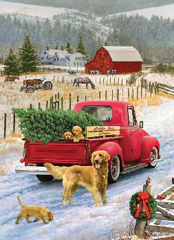 Red Truck Farm Tray Puzzle (35 piece)