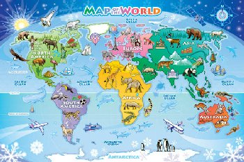 World Map Tray Puzzle (35 piece)