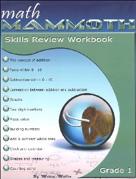 Math Mammoth Gr 1 Color Sklls Review Wkbk