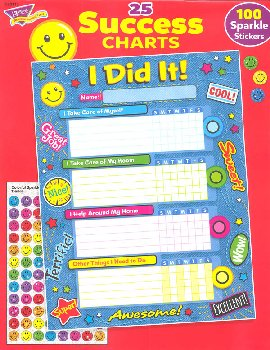 Success I Did It! Chart - Pack of 25 with 100 Stickers