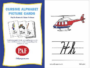 Cursive Alphabet Picture Cards