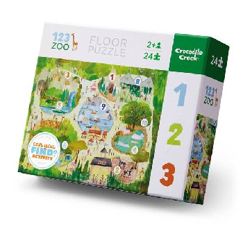 123 Zoo Floor Puzzle (Early Learning Puzzles 24-piece)