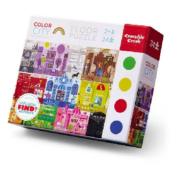 Color City Floor Puzzle (Early Learning Puzzles 24-piece)