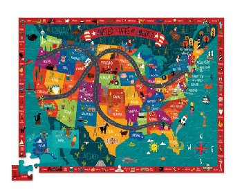 Discover America Learn + Play Puzzle (100 pieces)