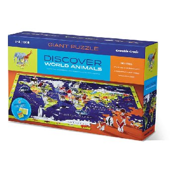 Discover World Animals Learn + Play Puzzle (100 pieces)