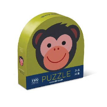 Monkey Friends Two-Sided Animal Puzzle (24 pieces)