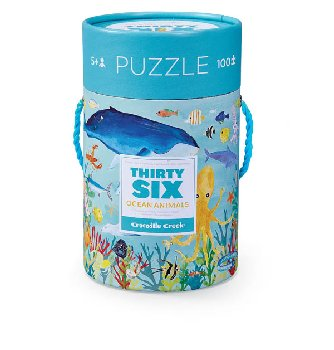 Ocean Thirty-Six Animals Puzzle (100 pieces)