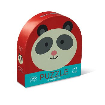Panda Friends Two-Sided Animal Puzzle (24 pieces)