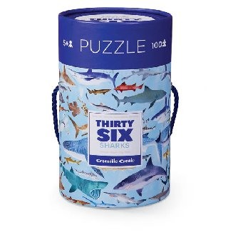 Sharks Thirty-Six Animals Puzzles (100 pieces)