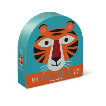 Tiger Friends Two-Sided Animal Puzzle (24 pieces)