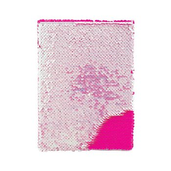 Iridescent/Bright Pink Magic Sequin Journal