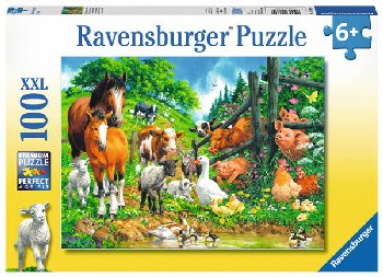 Animals Get Together Children's Puzzle (100 pieces)