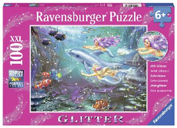 Little Mermaids Glitter Puzzle (100 pieces)