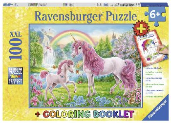 Magical Unicorns Puzzle & Coloring Booklet