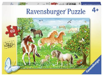 Mustang Meadow Children's Puzzle (60 pieces)