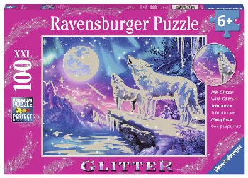 Twilight Howl Glitter Puzzle (100 pieces)