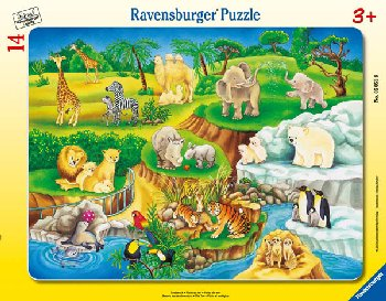 Zoo Children's Puzzle (14 pieces)