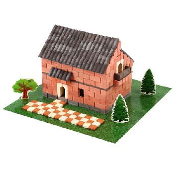 Irish House (Red) 450 Pieces (Wise Elk Construction Set)