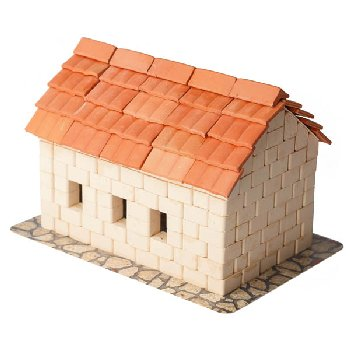 Tile Roof House 450 Pieces (Wise Elk Construction Set)