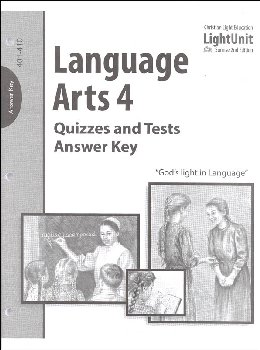 Language Arts 401-410 Quizzes and Tests Answer Key Sunrise 2nd Edition